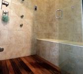 Master Shower with Custom Teek Floor