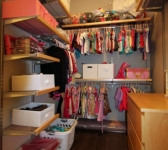 GIRL'S NURSERY WALK-IN CLOSET